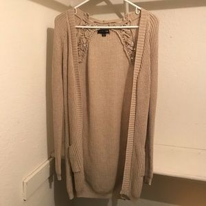 Charlotte Russe Beige Cardigan Small